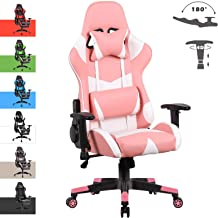 Advwin Gaming Chair Racing Style, Ergonomic Design 4D Armrest Reclining Executive Computer Office Chair, Relieve Fatigue (...
