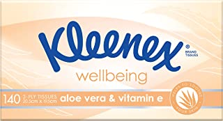 KLEENEX Facial Special Care Aloe Vera & Vitamin E Facial Tissues, 140 sheets, 0.312 kilograms