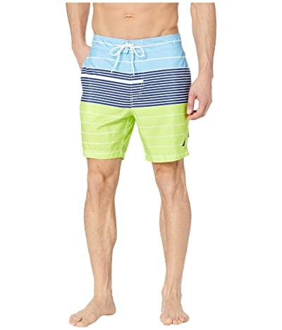 Nautica Variegated Stripe Swim Trunks (Tropical Lime) Men