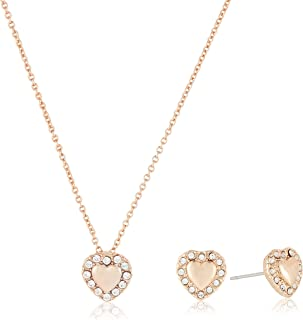 MESTIGE Women Crystal Rose Gold Lovin You Set with Swarovski Crystals
