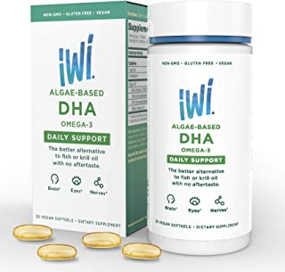Omega-3 Oil DHA Daily Support - Doctor Recommended Algae Oil Soft Gel Capsules - 30 Day Supply - Better Absorption, 100% Vegan, Non GMO - Healthier Than Fish - Supports Brain And Nervous System Health