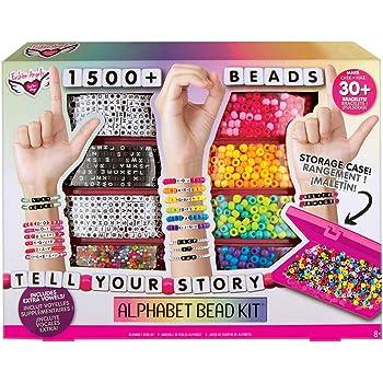 Fashion Angels Tell Your Story Juego de Cuentas del Alfabeto 1500 + Cuentas, Set de Regalo para Pulsera, marrón/a (12381)