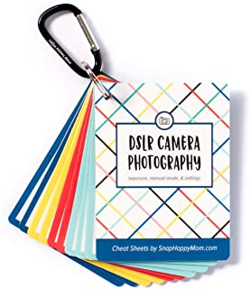 DSLR Cheat Sheet Cards for Canon, Nikon and Sony Cameras - Plastic Quick Reference Photography Cards | Camera Settings, Exposure & Manual Mode | Snap Happy Mom
