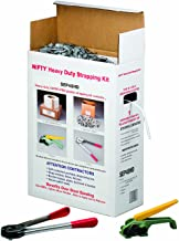 "Nifty Products SEP48HD 1003 Piece Heavy Duty Polypropylene Jumbo Strapping Kit, 7200' Length x 1/2"" Width, White"