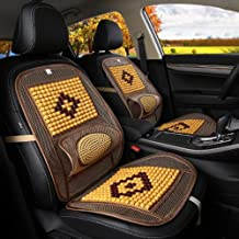 1PCS 98*48cm (38.6x18.9 inch) Car Waist and Seat Wooden Beads Pad-Car Waist and Seat Cushion-Waist and Seat Cushion Car-Car Decoration Accessories-Car Decorations Interior-Car Support Cushion (Beige)