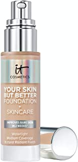 IT Cosmetics Your Skin But Better Foundation + Skincare, Light Neutral 22 - Hydrating Coverage - Minimizes Pores & Imperfe...