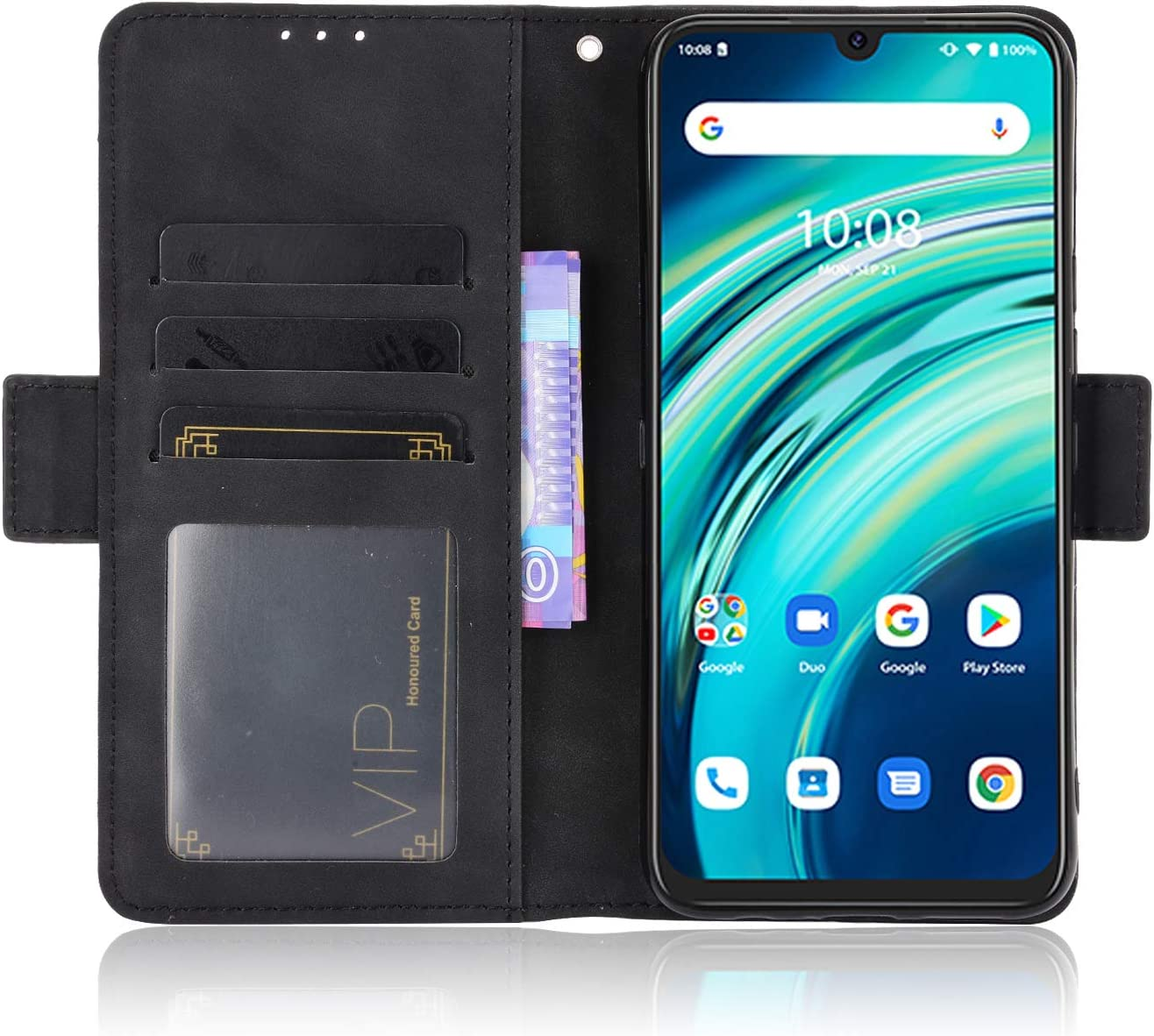 UMIDIGI A9 Pro, Blue Card Slots Magnetic Closure Kickstand Shockproof PU Leather Flip Case for UMIDIGI A9 Pro UMIDIGI A9 Pro Wallet Case