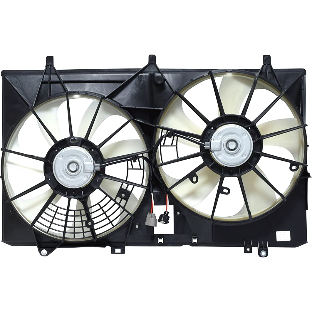 Universal Air Conditioner FA 70856C Dual Radiator/Condenser Fan Assembly