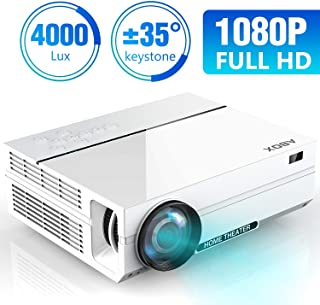 Projector, ABOX A6 Portable Home Theater 1080p Video Projector, Up to 200