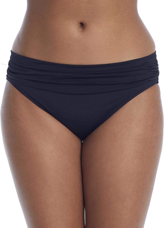 La Blanca Women's Standard Island Goddess Shirred Band Hipster Bikini Swimsuit Bottom