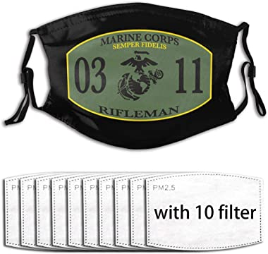 416 0311 Rifleman Marine Corps Logo Face Shield Unisex Outdoor Mask Suitable