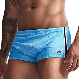 AIMPACT Mens Swimming Trunks Swimwear Briefs Square Shorts Drag Suit for Men