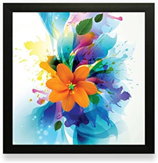 PRINTELLIGENT Framed Floral Wall Paintings for Living Room and Bedroom with Frame Size 25.4 inch x 25.4 inch with Special ...