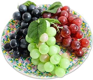 【SCGEHA】まるで本物 フルーツ 野菜 盛り合わせ フェイク イミテーション 食品サンプル オブジェ 置物 オーナメント 飾り (ブドウ3種)