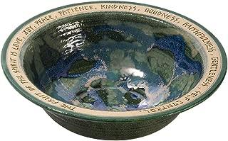 BRYAN BECKER CLAY WERKS Wedding Bowl - Engraved Stoneware Dish - Great Wedding or Shower Gift