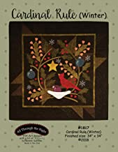 Cardinal Rule (Winter) Applique Quilt Pattern by Bonnie Sullivan from All Through The Night #1817-34