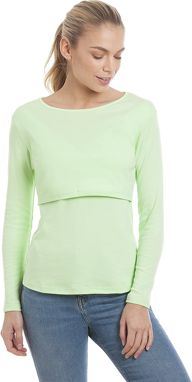 talla S XL L XXL Central Chic Camiseta de manga larga para mujer de maternidad y lactancia materna M