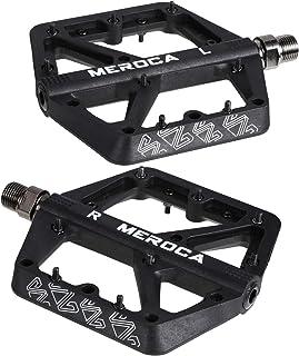 IMIKEYA 1 Pair Lightweight Mountain Bike Pedal Nylon Fiber Non- Slip Bicycle Platform Flat Pedals for Road Mountain BMX MT...