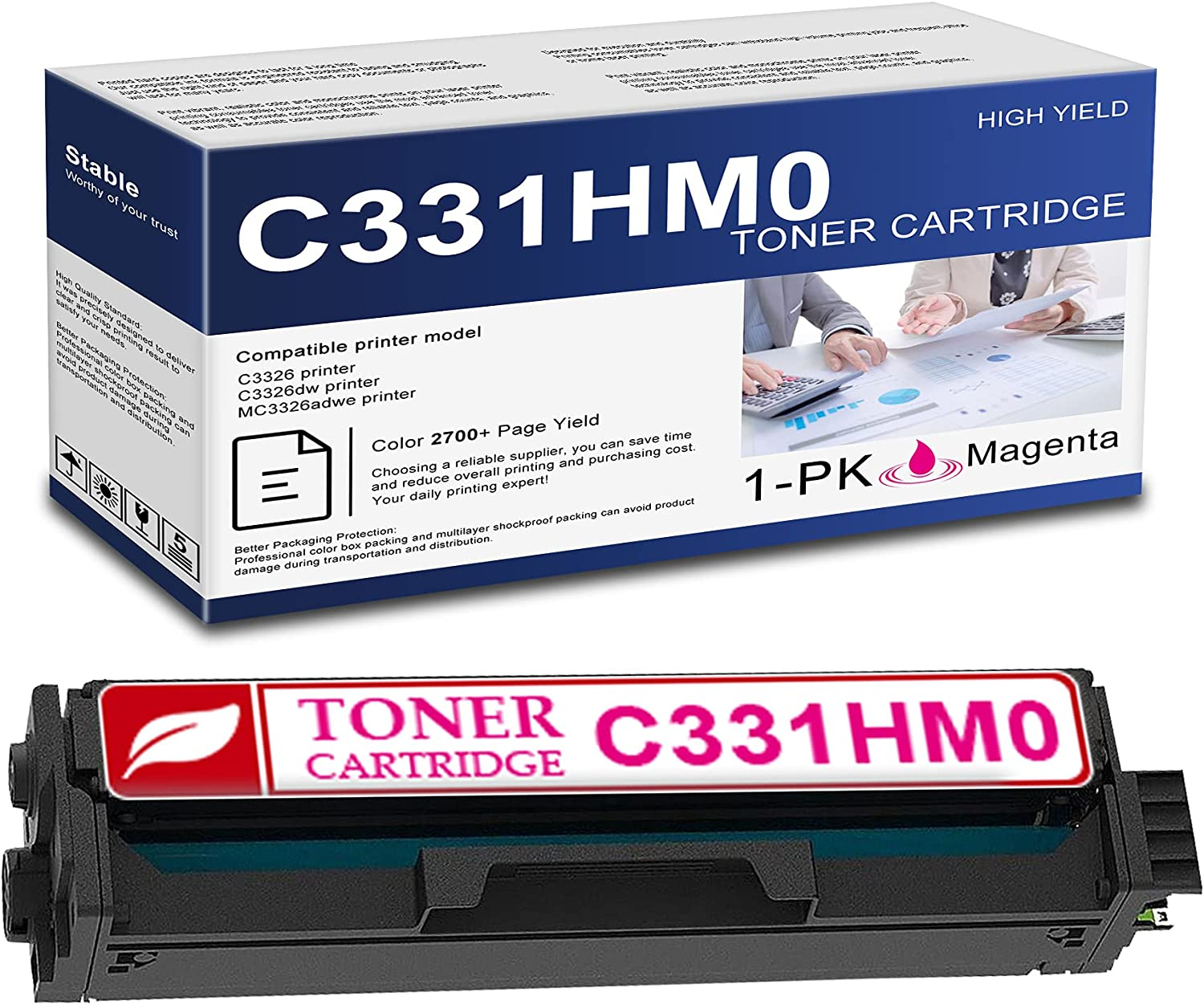 New arrival Compatible 1 Pack C331HM0 Tampa Mall Magenta Toner Rep Yield High Cartridge