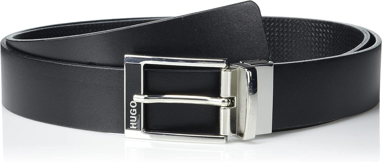 HUGO Men's Belt, Ebony Black, PCE