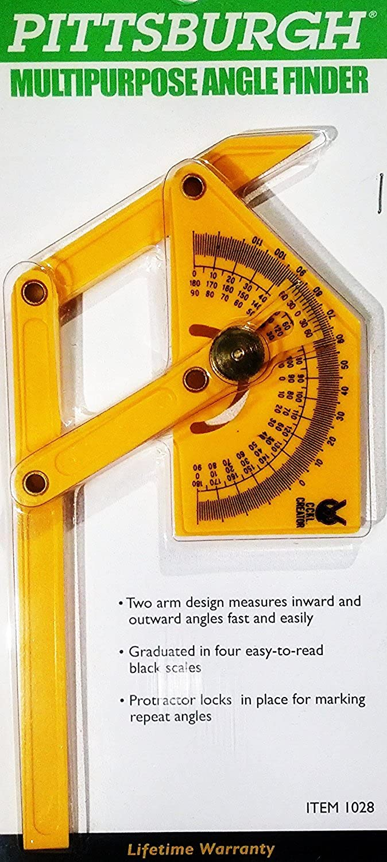 Multipurpose Angle finder finder finder  Protractor, 2 Arm, Locking, 4 Scales, Inward & Outward Measurement by Pittsburgh B006ZB8HRG  Große Klassifizierung 037f3f
