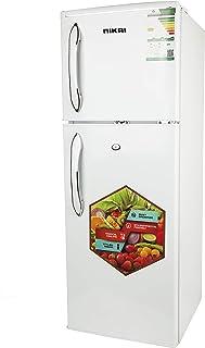 Nikai Defrost Double Door Refrigerator 4.7Cubic Feet, White - NRF170D19