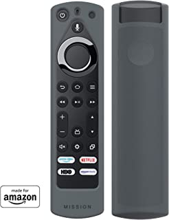 All New, Made for Amazon Remote Cover Case, for Fire TV Edition Alexa Voice Remote - Gray