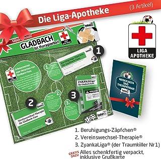 Geschenk-Set: Die Liga-Apotheke für Gladbach-Fans | 3X süße Schmerzmittel für Gladbach Fans | Die besten Fanartikel der Liga, Besser als Trikot, Home Away, Fan-Schal