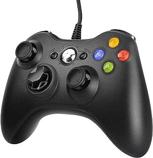 JAMSWALL Xbox 360 Mando de Gamepad, Controlador Mando USB de Xbox 360 con Vibración, Controlador de Gamepad para Xbox 360 Mando para PC Windows XP/7/8/10