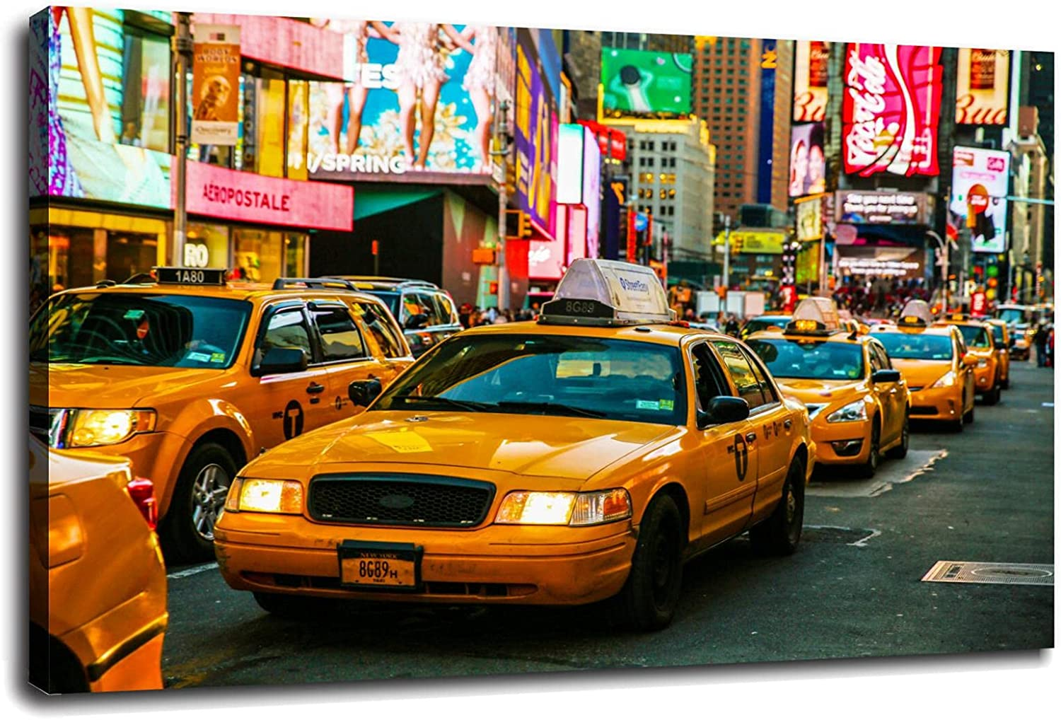 Taxi Excellence Wall Art Street Super intense SALE Canvas Prints Home Cniema Office For Poster