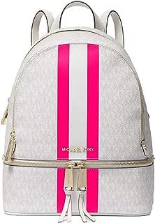 Rhea Medium Logo Stripe Backpack