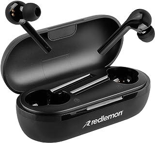 Redlemon Audífonos Inalámbricos Bluetooth 5.0 TWS con Base de Carga y Manos Libres, Sonido HD y Control Táctil, Resistente...