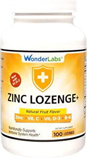 Zinc Lozenges with Vitamin C - Fruit Flavored, Healthy Immune Support Lozenges with 25mg of Zinc Supplement Per Lozenge + ...