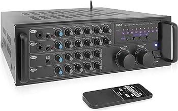 Pro 1000-Watt Portable Wireless Bluetooth - Stereo Mixer Karaoke Amplifier System with Dual Mic / RCA Audio / Video Inputs...