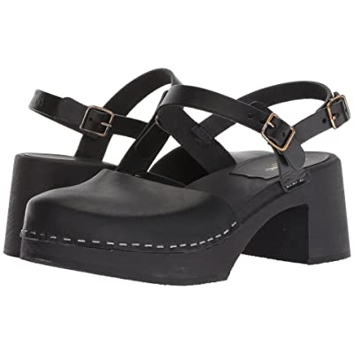 Swedish Hasbeens Irene (Black/Black Sole) High Heels