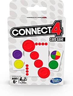 Hasbro Gaming Connect 4 Card Game for Kids Ages 6 and Up, 2-4 Players 4-in-A-Row Game