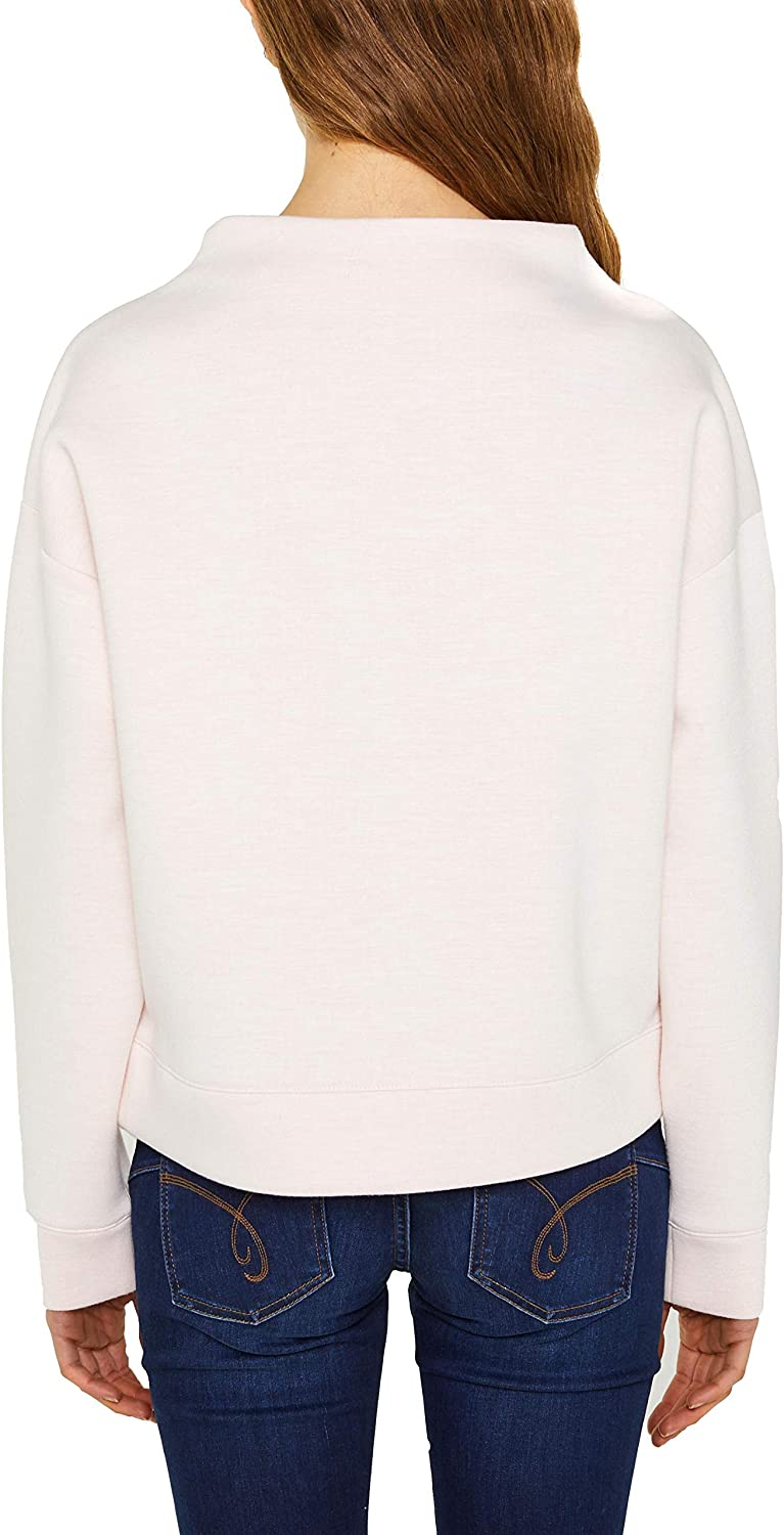 edc by Esprit Sweat-Shirt Femme Blanc (Off White 110)