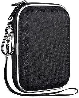 Lacdo EVA Shockproof Carrying Case for Western Digital My Passport Studio Ultra Slim Essential WD Elements SE Portable USB 3.0 Portable 2.5 inch External Hard Drive Travel Case Storage Bag, Large Size