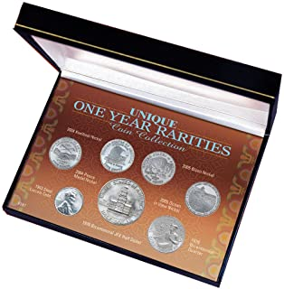American Coin Treasures Genuine US Coin Collection (7 Pieces) - Elegant American Coins for a True Collector - Unique 1 Year Rarities with Certificate of Authenticity