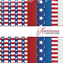 Americana Multi-pack Printed Craft Vinyl 6 Sheets 12x12 for Vinyl Cutters