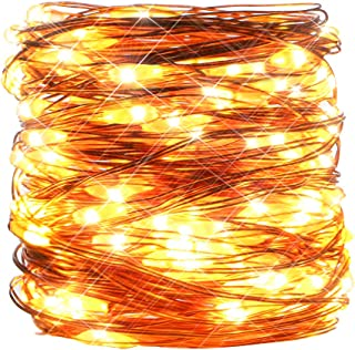Koopower Outdoor String Light 33ft 100 Led Fairy Lights Battery Operated Waterproof Decorative Copper Wire Light for Gardens, Gate, Yard, Party, Weeding, Christmas