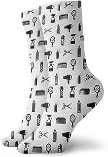 Jard-Baby, Salón & Barber Peluquería Unisex Transpirable Moda Quarter Calcetines de fin de semana Salón Corto Crew Calcetines Para Hombres Mujeres Calcetines Atléticos Médicos