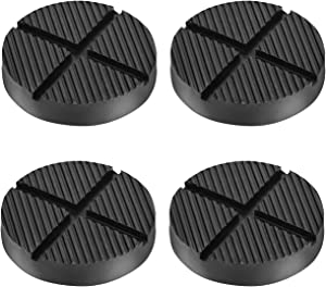 DEDC Floor Jack Rubber Pad Universal Jack Adapter Pinch Weld Side Frame Rail Protector Puck Pad Pack