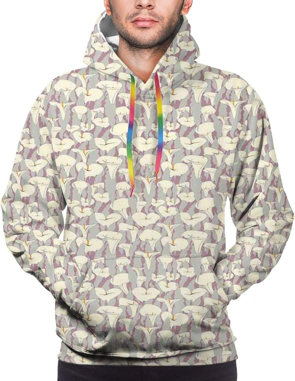 Men's Hoodies Sweatshirts,Abstract Design in Rainbow Colors Art in Shape of Starfish Performer Woman
