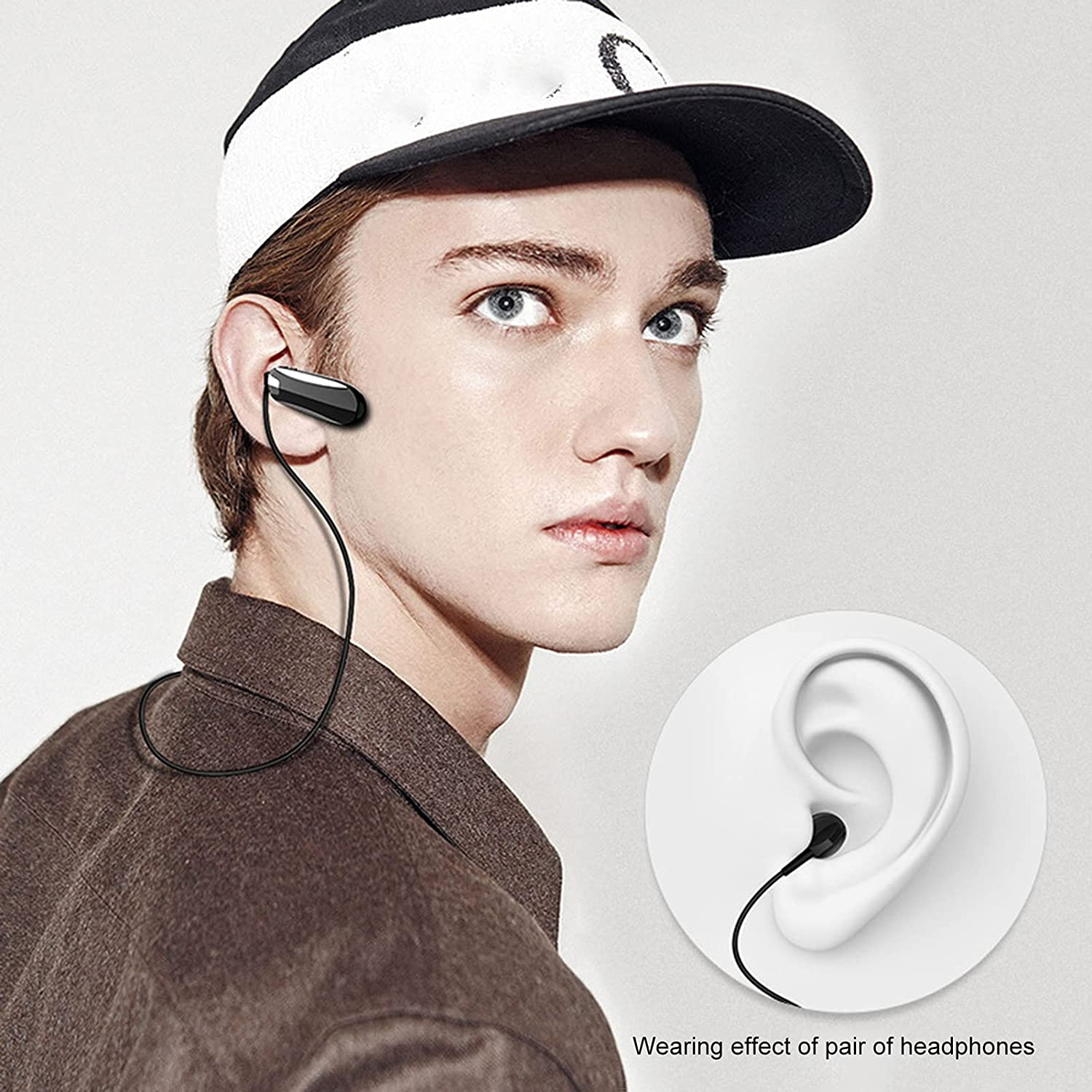 OCUhome True Wireless Earbuds, Bluetooth Headphones, X8 Earphone Bluetooth 5.0 Noise Reduction Mini Wireless Earpieces for Phone White