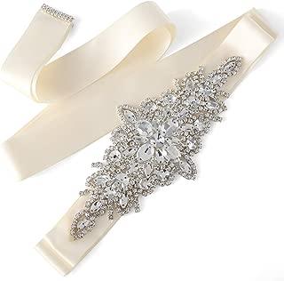 Exquisite Wedding Belt Applique Rhinestone Crystal sash for Bride and Bridesmaid Gown