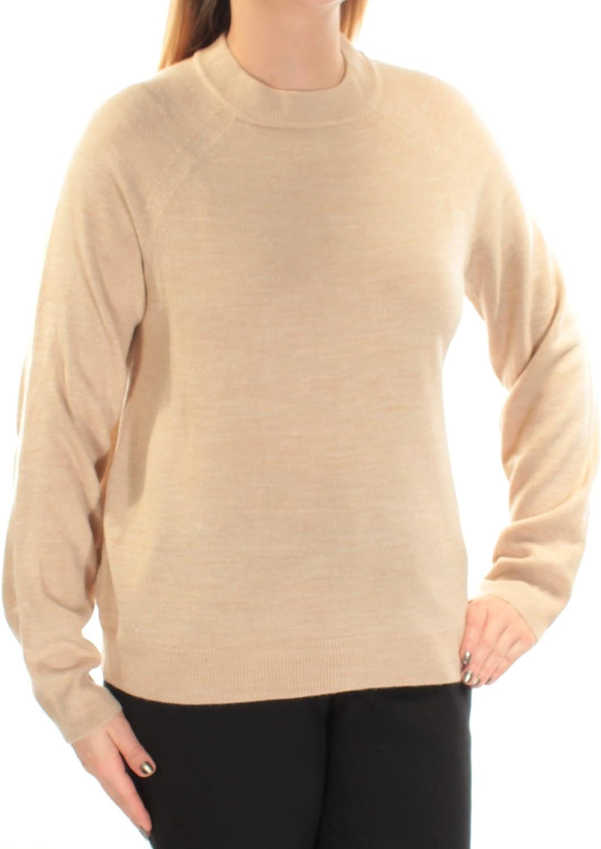 Karen Scott MockNeck Sweater in Oatmeal Heather