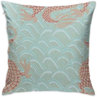 KIENGG Celestial Dragon Decorative Throw Pillow for Bed Couch Cushion Cover Square Pillowcases 18 X 18 Inches Double Side(Contain Pillow Core)