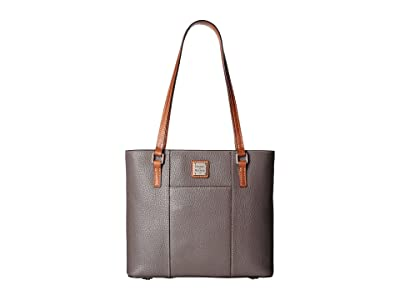 Dooney & Bourke Pebble Small Lexington Shopper (Elephant w/ Tan Trim) Tote Handbags