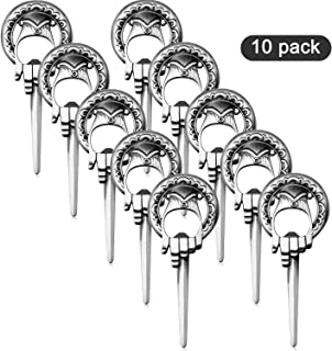 Trounistro 10 Pack Hand of King Bottle Opener Game Style Bottle Opener, Easily Removes Bottle Caps and Opens Letters, Good Presents for All Occasions and Unique Giveaway Party Favors (Color set 2)